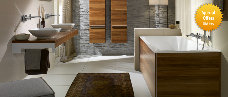 Awesome Luxury Bathroom With Wooden Freestanding Bath Tiles With Porcel Thin